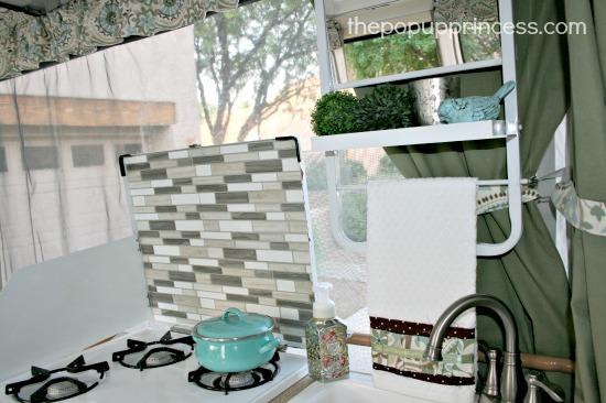 Camper Tile Backsplash