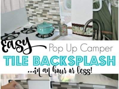 Easy Pop Up Camper Tile Backsplash