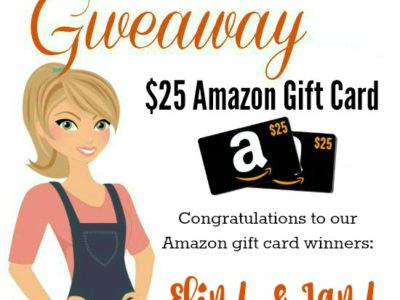 Congratulations to our Amazon Gift Card Winners