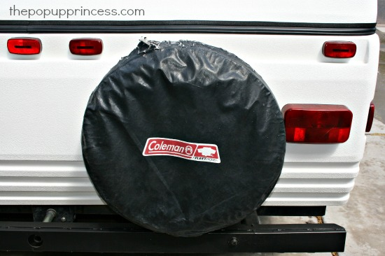 Camper Spare Tire Cover