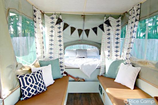 Pop up camper curtains - Lisa S Pop Up Camper Makeover The Pop Up Princess
