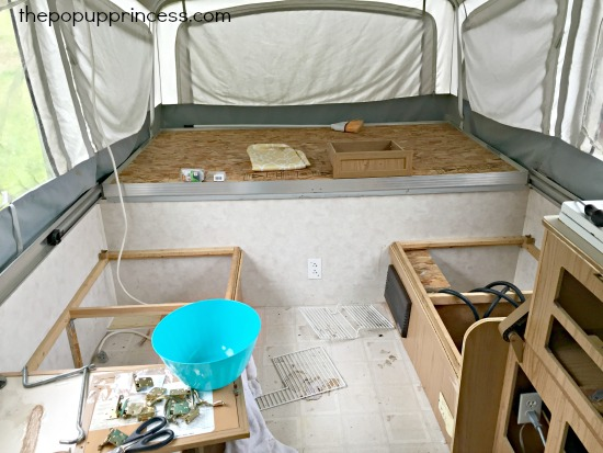 Pop Up Camper Interior Remodel