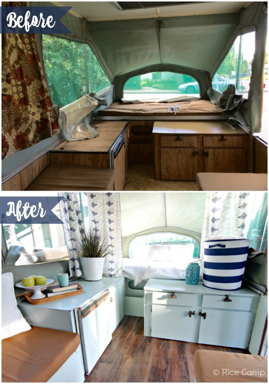 Lisa 39 S Pop Up Camper Makeover The Pop Up Princess
