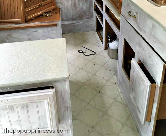 Painting Pop Up Camper Cabinets