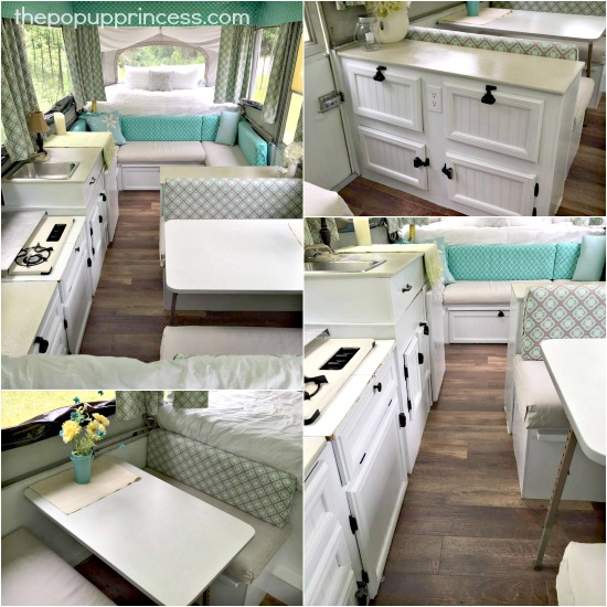 Amy bell 39 s pop up camper makeover the pop up princess Diy caravan interior design ideas