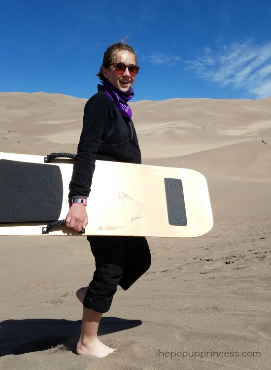 Sandboarding at Great Sand Dunes