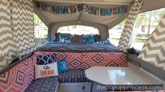 Pop Up Camper Cushion Remodel