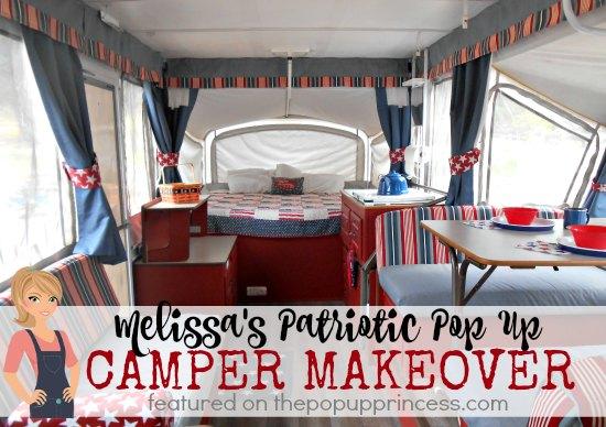 Patriotic Pop Up Camper