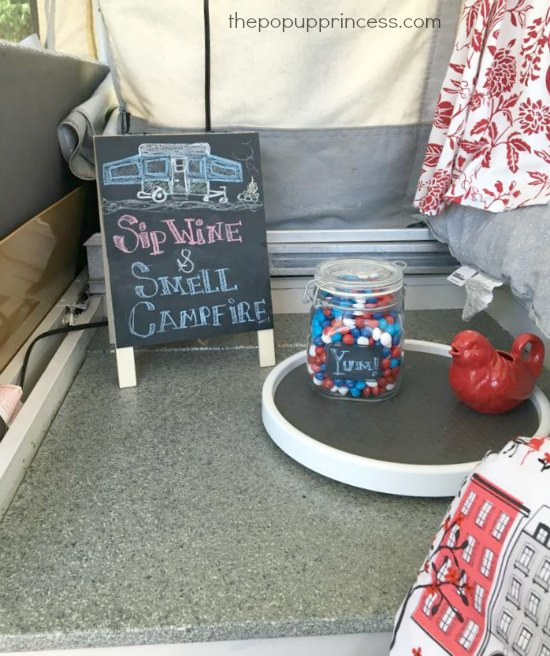 Pop Up Camper Decorating
