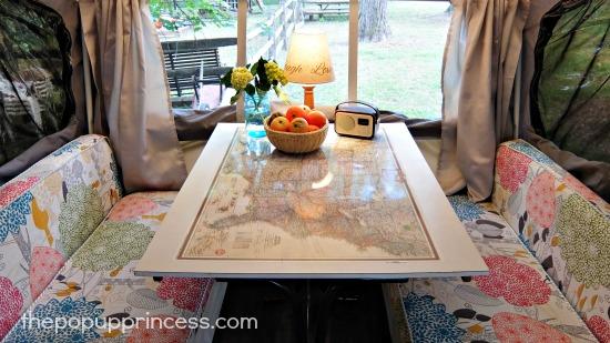 Pop Up Camper Dinette Table