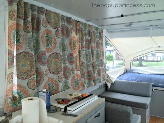 Pop Up Camper Curtain Install