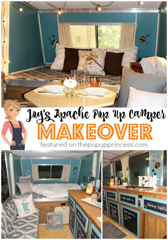 joy 39 s apache pop up camper makeover the pop up princess. Black Bedroom Furniture Sets. Home Design Ideas