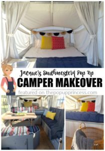Jacque's Southwestern Pop Up Camper Makeover