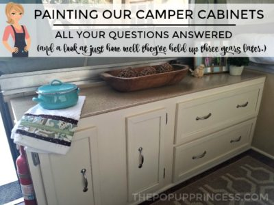 Painting Camper Cabinets:  How Our Cabinets Have Held Up Three Years Later