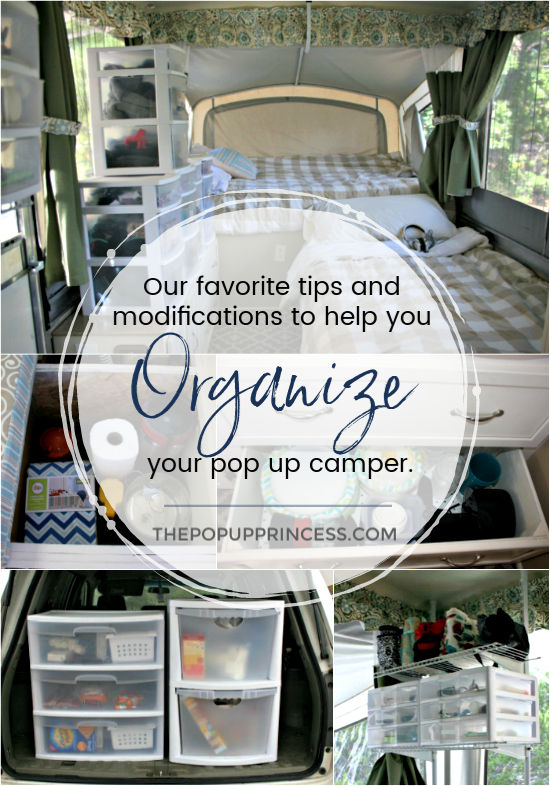 How We Organize Our Pop Up Camper The