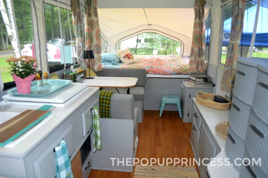 Painted Pop Up Camper Cabinets