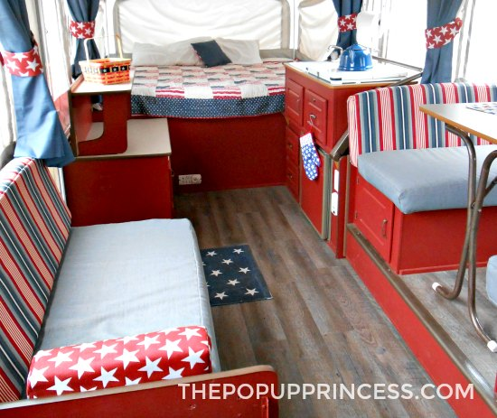 Red Camper Cabinets