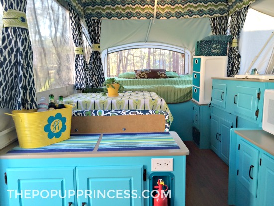 Painted Camper Cabinets You Ll Fall In Love With The Pop