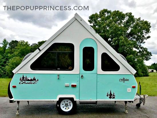 Shawna\'s A-Frame Camper Makeover - The Pop Up Princess