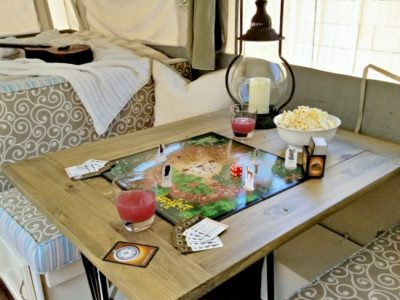 DIY Farmhouse Camper Table