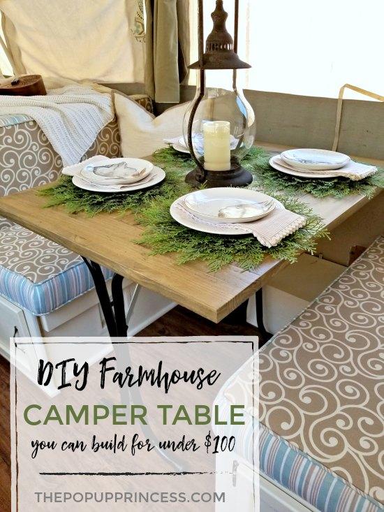 Pop Up Camper Table