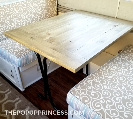 Diy Farmhouse Camper Table The Pop Up Princess