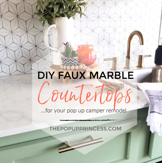 Diy Faux Marble Pop Up Camper